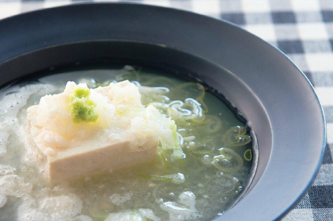 大根おろしと豆腐の塩麹スープ