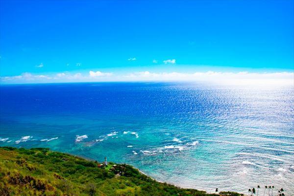 ダイヤモンドヘッドから見る海