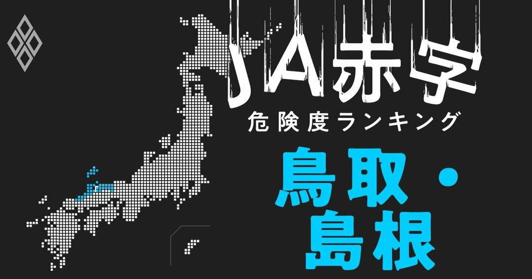 JA赤字危険度ランキング#鳥取・島根