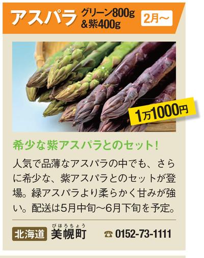 美幌町・ふるさと納税「アスパラ」