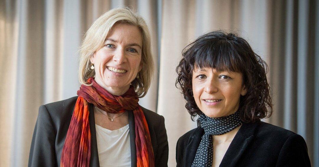 2020年ノーベル化学賞を受賞したエマニュエル・シャルパンティエとジェニファー・ダウドナ