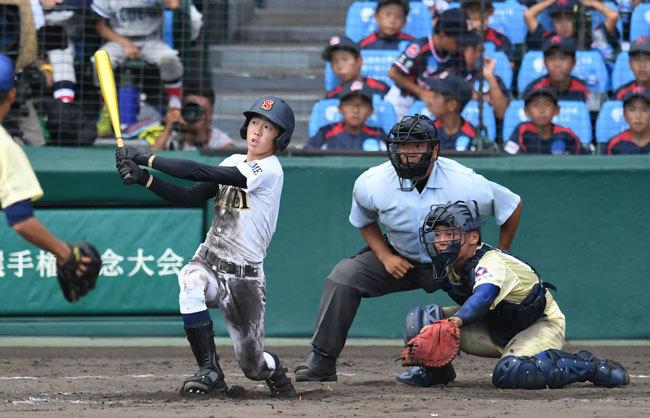●キャプ 星稜対済美でタイブレーク制適用の末に、済美の矢野功一郎選手が甲子園史上初となる逆転満塁サヨナラホームランを放った