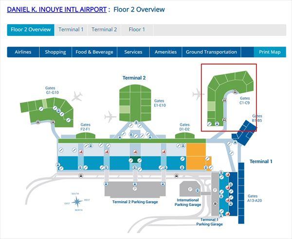 ダニエル・K・イノウエ国際空港 のマップ