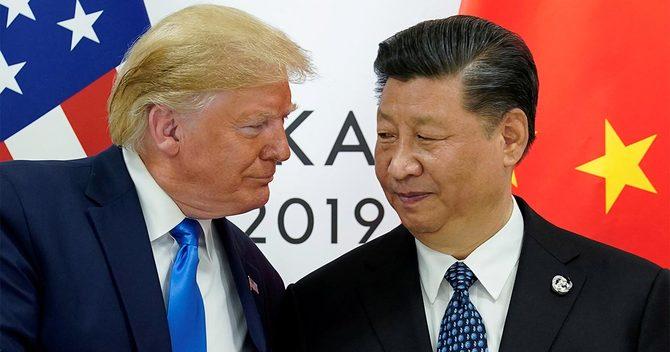 トランプ米大統領と中国の習国家主席