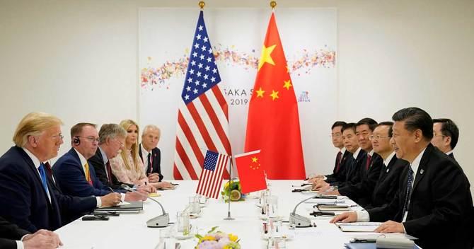 大阪で行われたG20での米中首脳会談