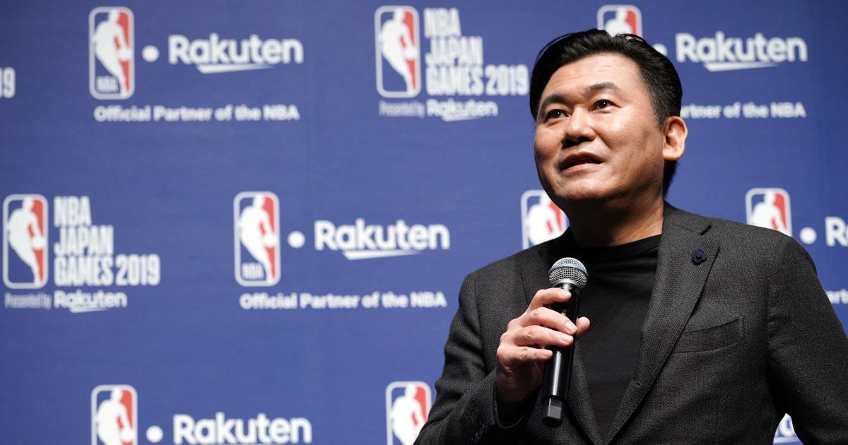 楽天・三木谷会長の壮大すぎるスポーツ界進出、今度は日本にNBA招聘
