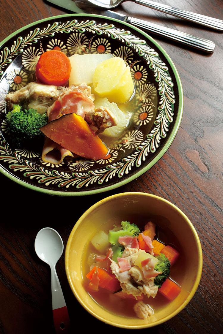 伝説の家政婦・志麻さんが教える<br />夏野菜を使っても美味しい!<br />2歳の息子、お気に入りの<br />「鶏手羽元のポトフ」