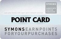 「サイモンズポイントカード」の券面デザイン