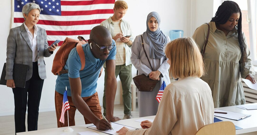米国,選挙,投票