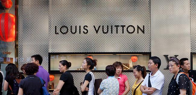 中国にあるルイ・ヴィトンの店舗