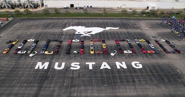 マスタング1000万台生産を記念するイベント