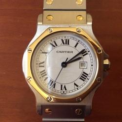 best website a015a 0d4a6 カルティエ」の高級時計「サントス」の中古品を定価の8割引で ...