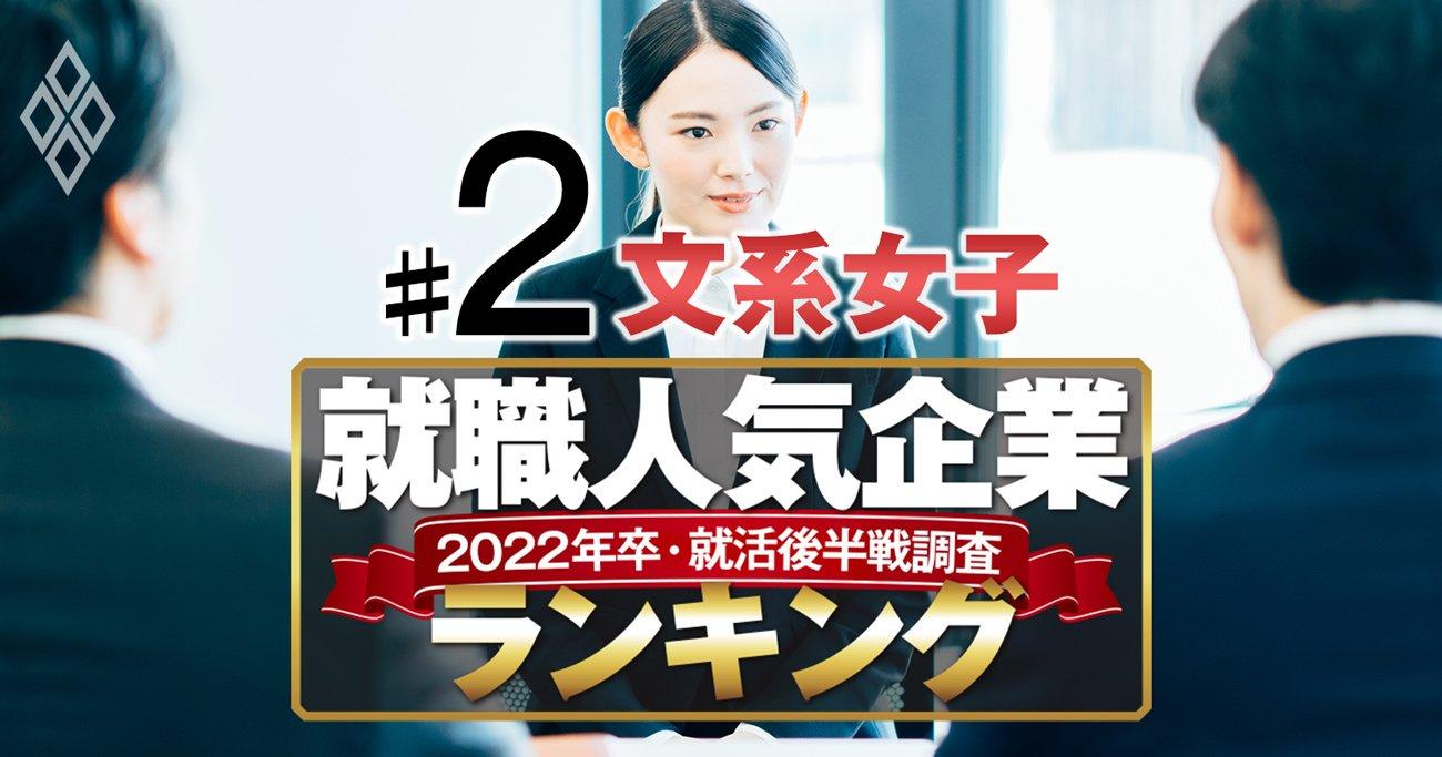 就職人気企業ランキング22年卒後半戦【文系女子ベスト150】2位伊藤忠、1位は?