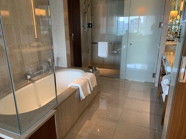 パレスホテル東京の「デラックス(和田倉噴水公園側)」のバスルーム
