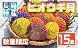 「長島町」に6000円の寄付をするともらえる「長島特産ヒオウギ貝(15個)」