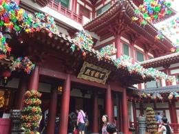 新年のチャイナタウンにある寺院