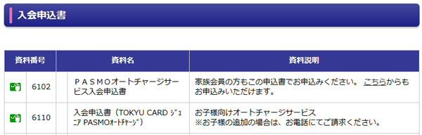 入会申込書の資料番号