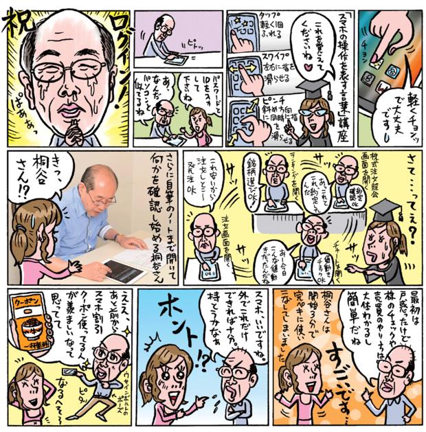 桐谷さんがスマホ株に挑戦