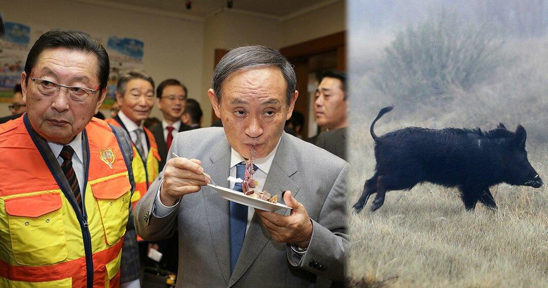菅義偉官房長官と大日本猟友会の佐々木洋平会長