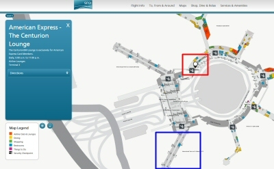 サンフランシスコ国際空港のマップ