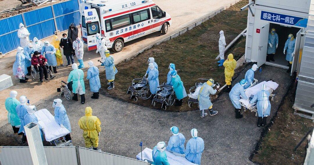武漢に新設した新型肺炎病院では、患者の受け入れが始まった