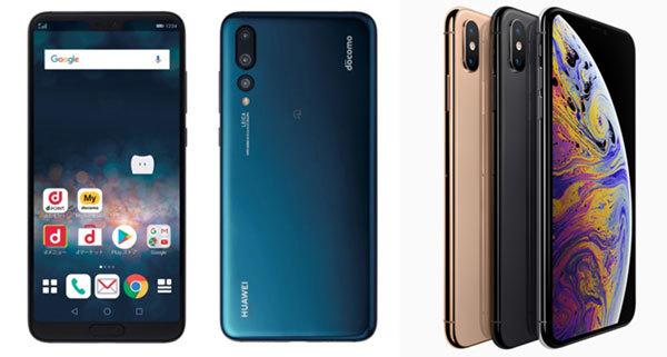 HUAWEI P20 Pro HW-01KとIPhone