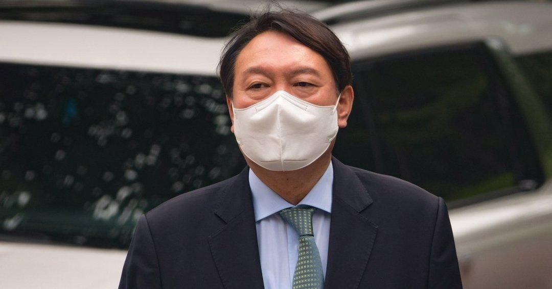 大統領選挙に野党候補として立候補する意向を表明した尹錫悦氏