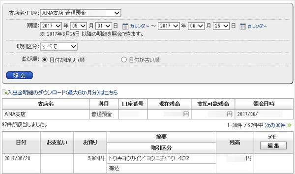 東京海上日動火災保険から、5984円が入金された