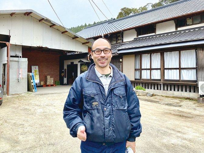 江戸時代築の母屋。春と秋に酒蔵祭を開催