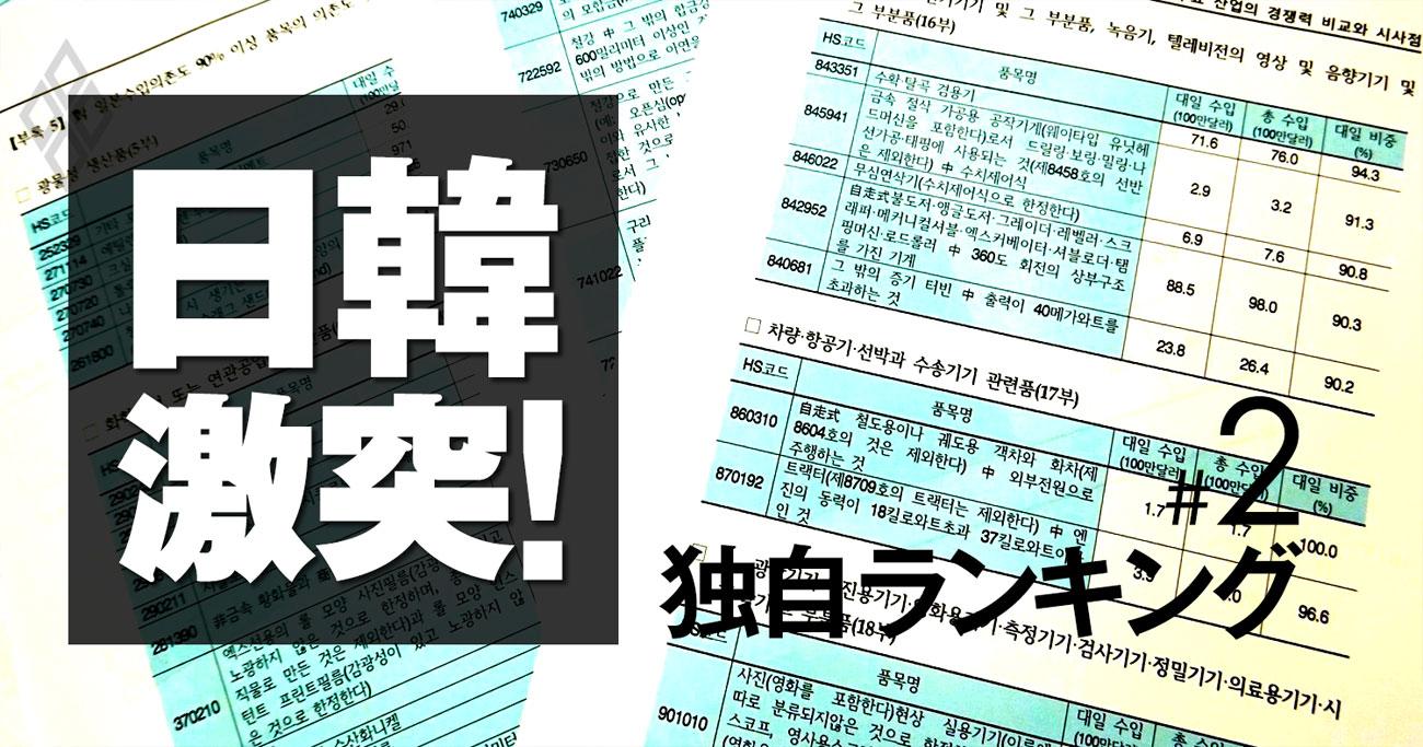 日韓対立で日本企業が危機に陥る裏事情、独自ランキングとデータで解説