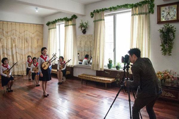 北朝鮮での撮影風景