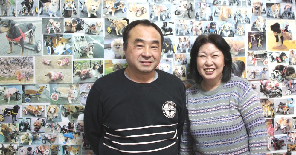 犬の車いす工房スイーピーの川西さん夫妻