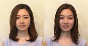 【大人の激変ヘアメイク】日本人的平面顔を彫りの深いメリハリ顔に見せる神テク