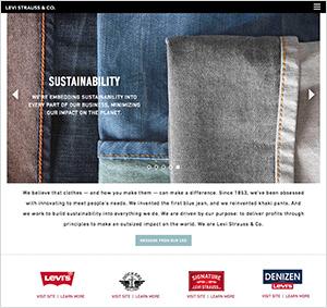 リーバイ・ストラウス公式サイト画像