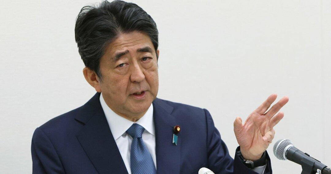 「桜を見る会」前夜祭をめぐる問題で不起訴処分となり、記者会見する安倍晋三前首相