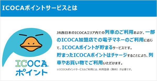 ICOCAポイントサービスの概要