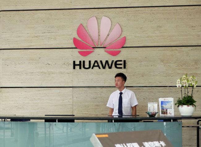 中国IT大手ファーウェイの受付