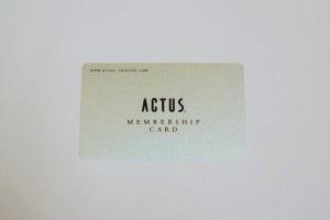 「ACTUS MEMBERSHIP CARD」を発行