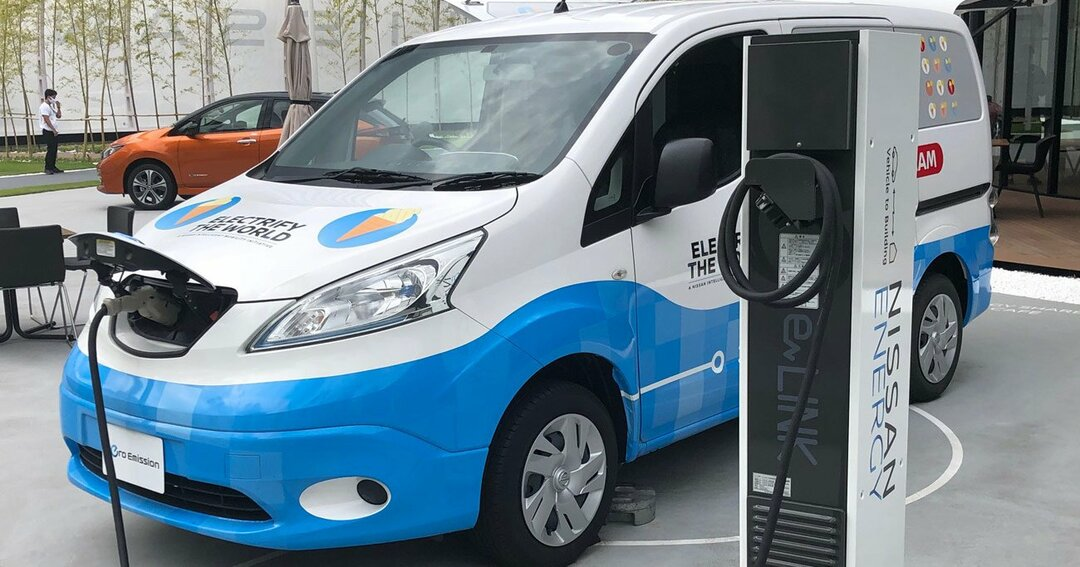 横浜で今夏から秋にかけて行われた期間限定施設「ニッサンパビリオン」での商用EVの展示