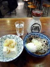 半じゅく玉子と湯豆腐