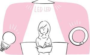 蛍光灯の周波数振動が頭痛を招く。<br />室内は白熱灯の間接照明にする