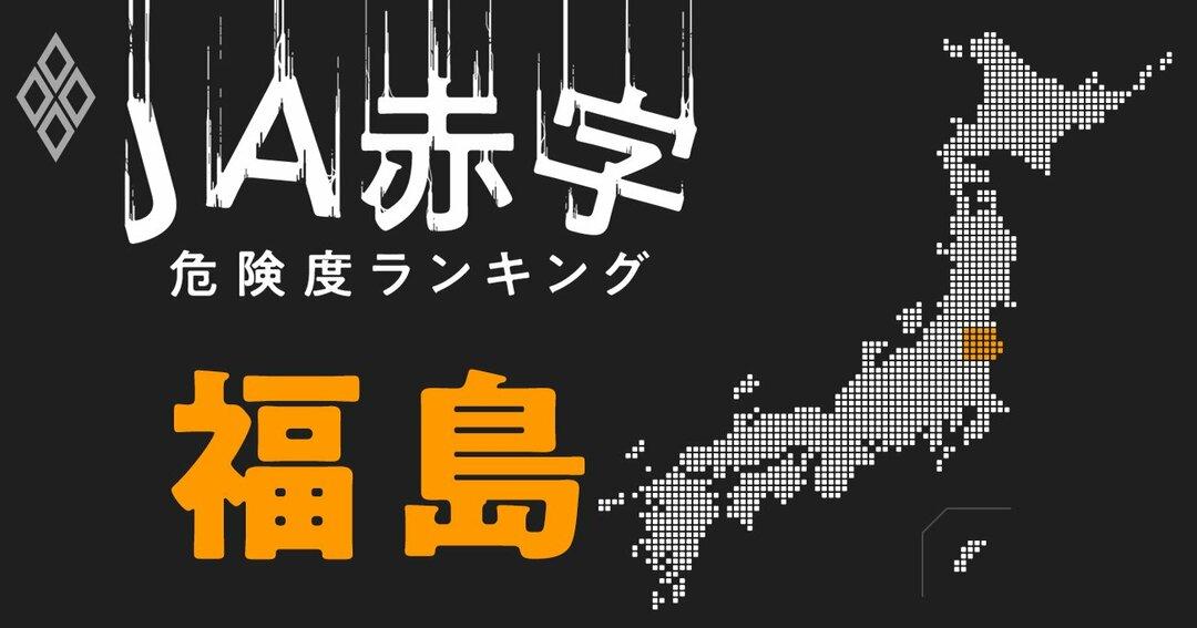 JA赤字危険度ランキング#福島