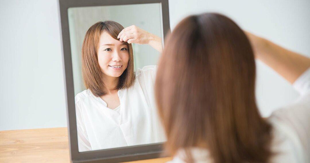 かわいいかどうかは、<br />髪の長さではなく<br />前髪と顔まわりで決まる!