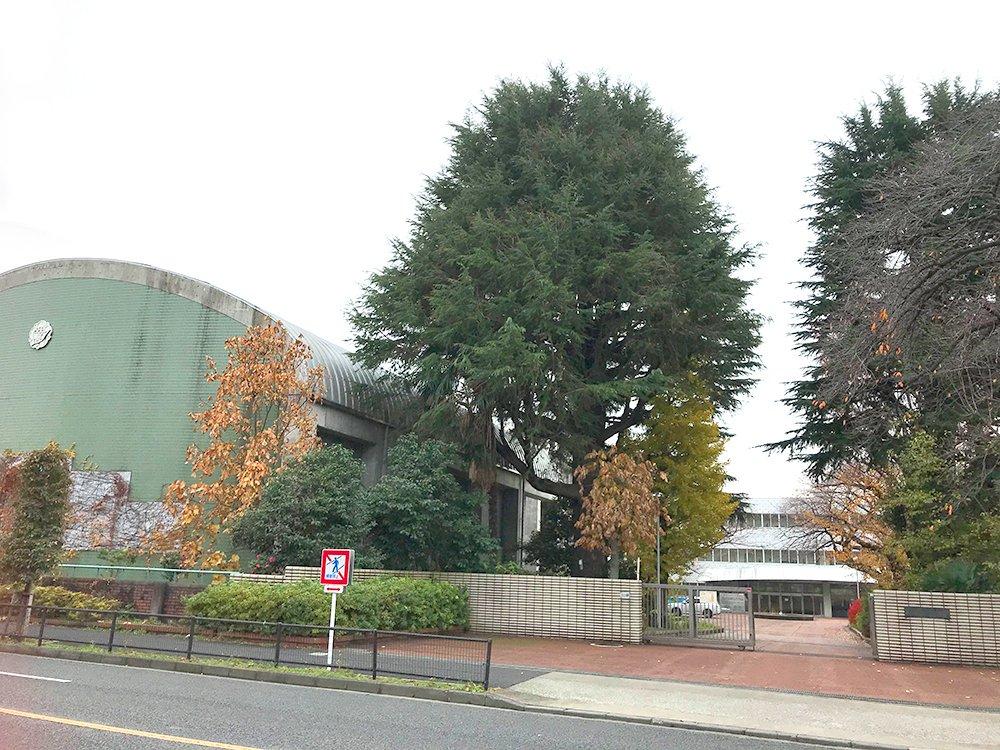 井の頭通りに面した正門の奥には広大な校地が。旧第3学区で無双状態の「西」