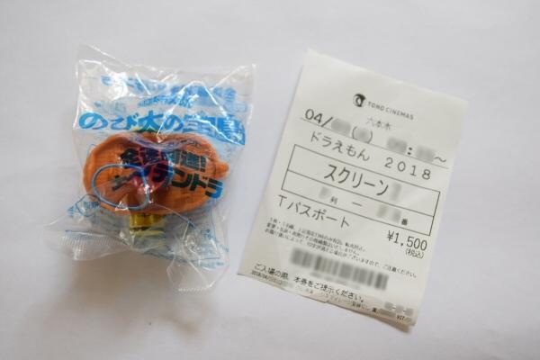 「ドラえもん のび太の宝島」のチケットとおもちゃ