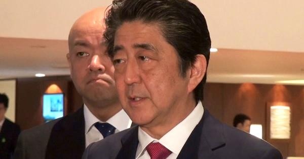 米朝首脳会談についての会見する安倍総理
