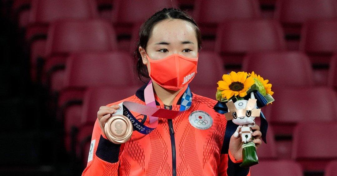 卓球女子シングルスで銅メダルを獲得した伊藤美誠選手