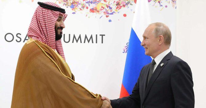 G20サミット期間中に会談したプーチン大統領とサウジアラビアのムハンマド皇太子