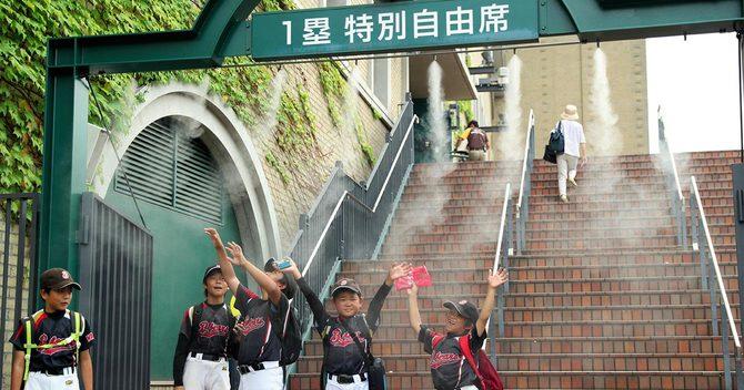 甲子園のミスト噴霧器