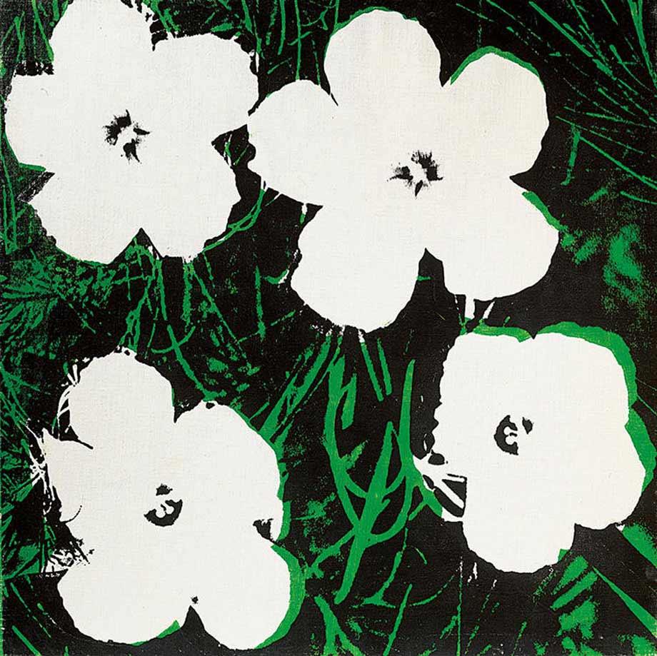 アンディ・ウォーホルの絵画 「フワラーズ」